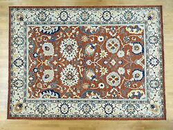 10and039x14and039 Hand-knotted Pure Wool Peshawar Sultanabad Design Oriental Rug R36557