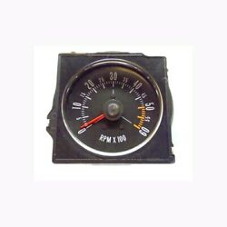 1970-72 Buick Gs Dash Tach With Flat Lens - Factory Metal Housing