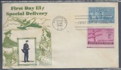 E17 Special Delivery 13 Cent Stamp, Dc Cancel, Crosby Cachet