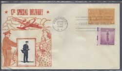 E18 Special Delivery 17 Cent Stamp, Dc Cancel, Crosby Cachet