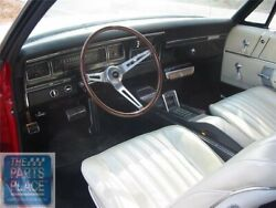 1968 Impala Oem Vinyl Covered Madrid Grain Dash Pad W/out Ac Red Each