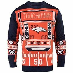 Officially Licensed Nfl Light-up Led Ugly Sweater By Forever Collectibles New