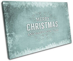 Christmas Decoration Wall Canvas Art Print Xmas Picture Gift Chalk 14 Blue Chris