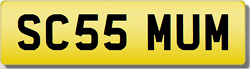 Sc Scs Mummy Mum Mothers Present Private Cherished Registration Number Plate