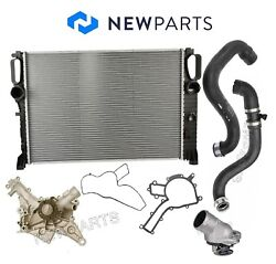 For Mercedes W219 Cls500 W211 Radiator Water Pump Hoses Thermostat 87 Deg. Kit