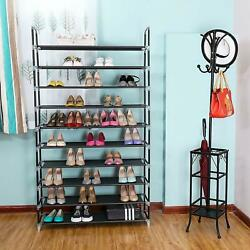 5 10 Tier Storage Organizer Cabinet Shelf Space Saving Shoe Tower Rack Home