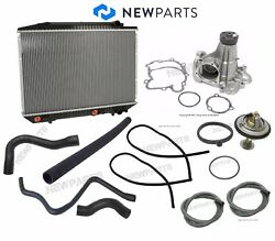 For Mercedes W126 560sel Radiator Lower Upper Hoses Water Pump Thermostat Kit