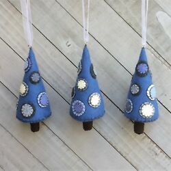 Christmas Ornament Felt Embroidery Kit Penny Trees. A Touch Of  Blue Makes 3