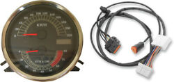 Drag Specialties Kmh Speedo Speedometer Tach And Harness For 96-03 Harley Flhr
