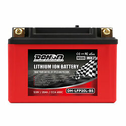 Lfp20l-bs 12v 20ah 630cca Motorcycle Lithium Iron Phosphate Battery Lifepo4 Bms