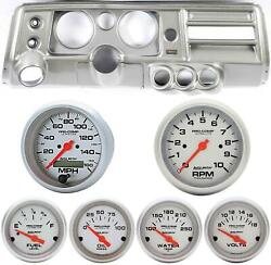 68 Chevelle Silver Dash Carrier 5 Ultra Lite Electric Gauges W/ Astro