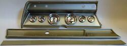 67 Chevelle Silver Dash Carrier W/ Auto Meter American Muscle Gauges