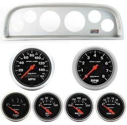 60-63 Chevy Truck Silver Dash Carrier W/ Auto Meter Sport Comp Electric Gauges
