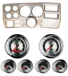 84-87 Chevy Truck Silver Dash Carrier W/ Auto Meter American Muscle Gauges 5