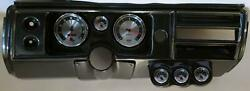 68 Chevelle Carbon Dash Carrier W/ Auto Meter 5 American Muscle Gauges No Astro