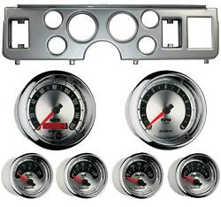 79-86 Mustang Silver Dash Carrier W/ Auto Meter American Muscle Gauges