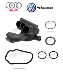 For Audi Tt Q Vw Golf Jetta Thermostat Housing W/ Seals And O-rings Kit Genuine
