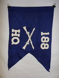Flag954 Ww2 Us Army Airborne Guide On 188 Parachute Infantry Regiment Hq Co Ir43