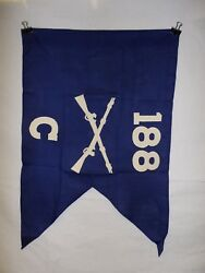 Flag957 Ww2 Us Army Airborne Guide On 188 Parachute Infantry Regiment C Co Ir43b