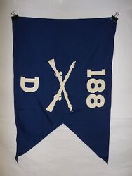 Flag958 Ww2 Us Army Airborne Guide On 188 Parachute Infantry Regiment D Co Ir43b