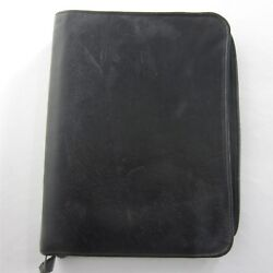 Classic Black Leather Franklin Covey Day Planner Zip Binder 7 1.25 Rings