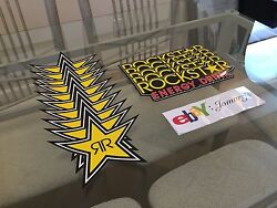 15 Mix Authentic Rockstar Energy Drink Stickers Decal Sign Logos And Stars Racing