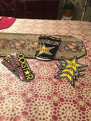 9 Mix Authentic Rockstar Energy Drink Stickers Decal / Sign / Logo Bmx Motocross