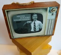 Classic Old Time Shows Television Wood Retro Vintage Look Ornament Made In Usa
