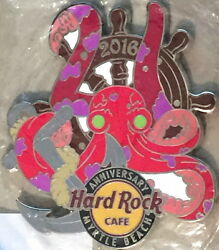 Hard Rock Cafe Myrtle Beach 2016 21st Anniversary Magnet Wheel Anchor And Octopus