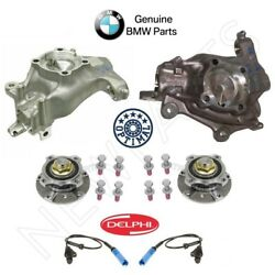 For BMW E39 Set of 2 Front Steering Knuckles & Wheel Hubs & Bearings ABS Sensors