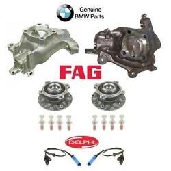 For BMW E39 Pair Set of 2 Front Steering Knuckles w/ Wheel Hubs +ABS Sensors OEM