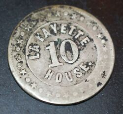 Chas. Pick Lafayette House 10 Cent Silver Token Late 1800's Extremely Rare