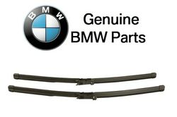 For BMW E82 E88 1-Series M 128i 135i 135is Front Wiper Blade Set Genuine