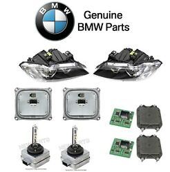 For BMW E90 E92 E93 Set of Left & Right Headlight Control Unit & Bulbs Kit OES