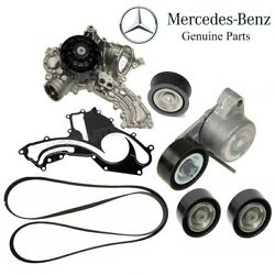 For W207 W166 Cl550 Gl450 Water Pump Drive Belt Pulley Tensioner Timing Kit
