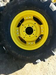 2 14.9x24 8 Ply John Deere Tractor Tires Wheels With Centers