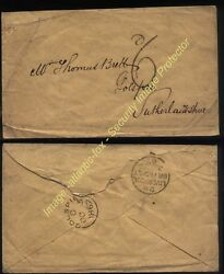 1867 Liverpool Handstruck 6d On Unpaid Br Packet Cover To Golspie Sutherland