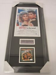 John Travolta Grease Signed Autographed Framed Matted Cd Soundtrack Booklet Jsa