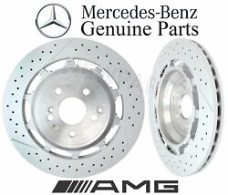 For Mercedes S213 W222 S C190 Amg Pair Set Of 2 Rear Disc Brake Rotors Genuine