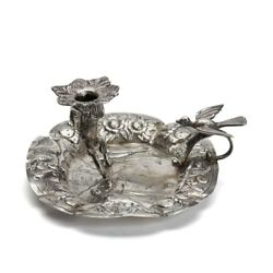 Antique Continental Silver Chamberstick 18/19th C.