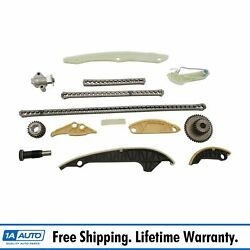 Engine Timing Chain Kit Set With Idler And Crank Sprockets For Audi Vw 2.0l New