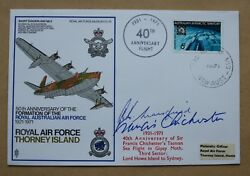 Raf Thorney Island 1971 Cover Signed By Sir Francis Chichester And Keith Mansfield