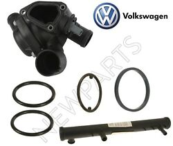 For Volswagen Touareg 04-06 3.2 V6 Thermostat And O-rings Oil Cooler Seals Kit