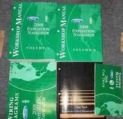 2008 FORD EXPEDITION LINCOLN NAVIGATOR Repair Service Shop Manual Set 5 BOOK OEM