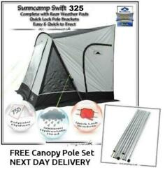 New 2019 Sunncamp Swift 325 Deluxe Caravan Porch Awning Plus Rear Upright Pads