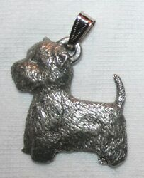 Westie West Highland Terrier Dog Harris Fine Pewter Pendant USA Made