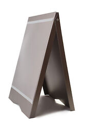 A-BOARD PAVEMENT SIGN MENU SANDWICH BOARD SHOP SIGN FOR A2 SIZE POSTERS GREY