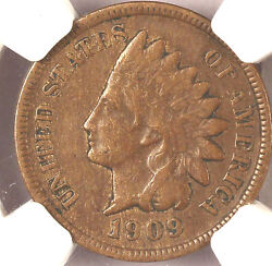 1909-s 1c Indian Xf40bn Ngc-popular Key Date. Only 309,000 Minted.