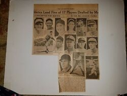 Bud Parmalee Hugh Casey Merrill May Cotton Pippen 1938 Sporting News Collage