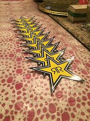 10 Authentic Rockstar Energy Drink Stickers Decal / Sign / Stars Bmx Motocross